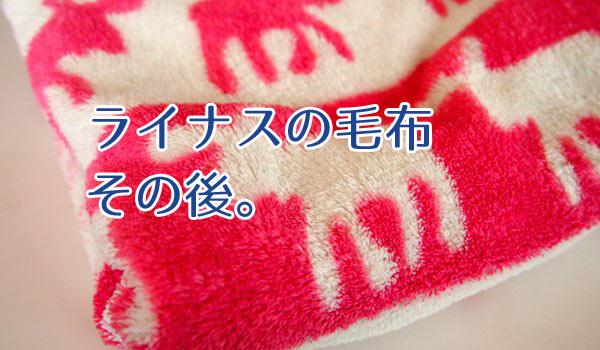 ライナスの毛布その後