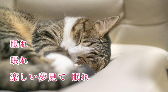 眠れ 眠れ 楽しい夢見て 眠れ